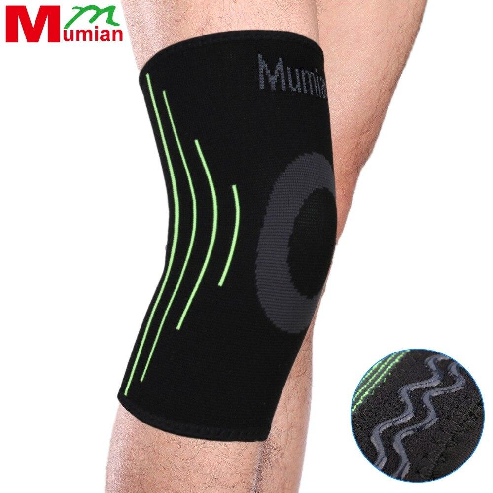 Mumian ספורט רגל ברך תמיכה ברדס עטיפת מגן ברך כריות Kneepads ברכיים שרוול כובע פטרה בטיחות המשמר תמיכה ירוק / אדום