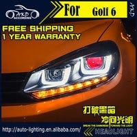 AKD Car Styling Head Lamp For VW Golf 6 Headlights 2010 2012 Golf6 R20 LED Headlight