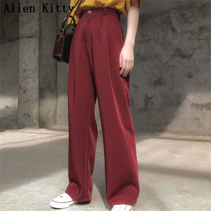 Alien Kitty ร้อนๆตรงผู้หญิง Empire สด 2019 ฤดูร้อนฟรี Texture กางเกงขายาว