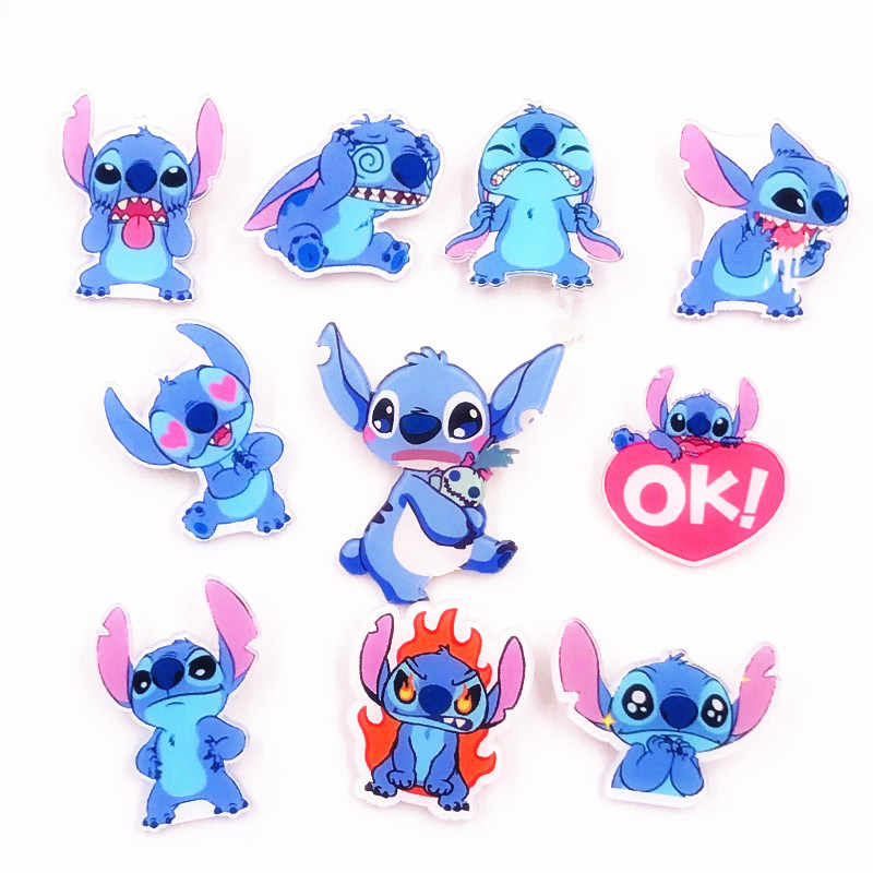 1PCS Hot Selling Lilo&Stitch Animated Cartoon Character Brooch Little Monster cartoon Acrylic Badge Decoration On Kids Backpack