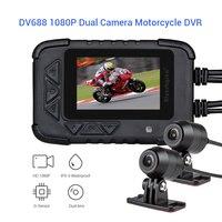 Blueskysea двойной полный HD1080P мотоцикл DVR камера Para мото Водонепроницаемый g сенсор Motocicleta Motosiklet Kamera мотоцикл Dashcam