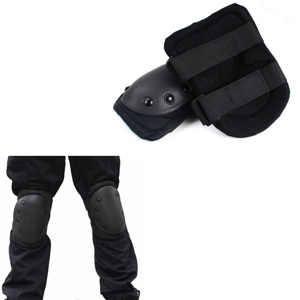 Sports Tactical Knee Elbow Pads Combat Skate Paintball Hunting Protector Kit