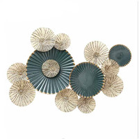Creative 3D Stereo Wrought Iron Round Shape Crafts Home Livingroom Sofa Background Wall Mural Accessories Decoration Art R647