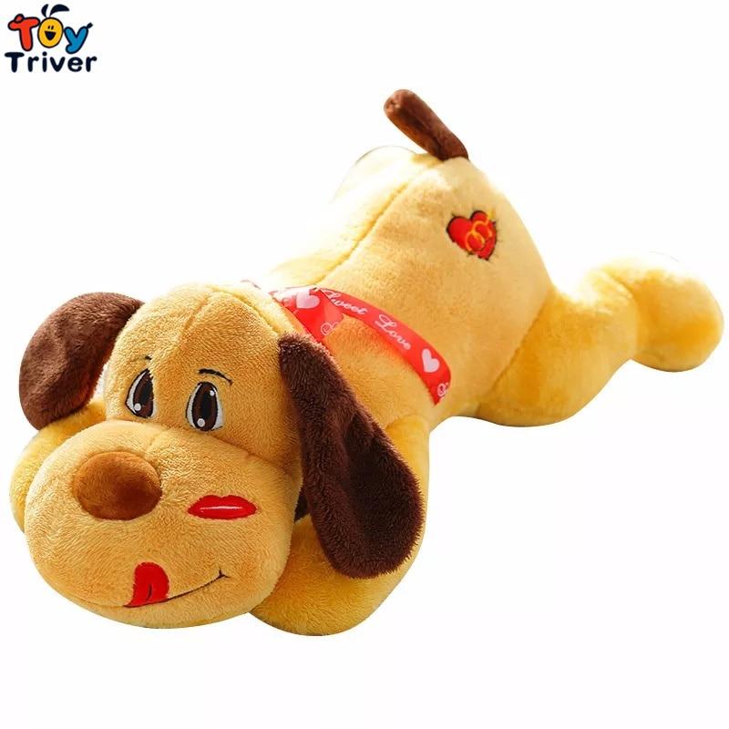 Labio Beso Perro Cachorro Amor Corazón Juguete de felpa Triver Muñeca Animal Niños Bebé Niños Amigo Regalo de cumpleaños Envío de la gota