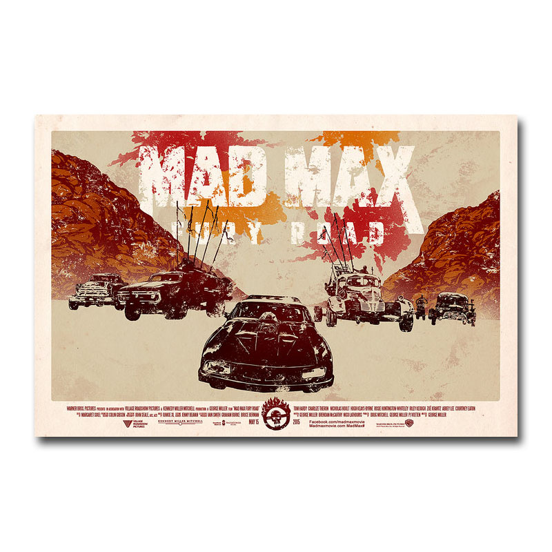 Mad Max Fury Road Hot Movie Art Silk Poster 13x20 24x36 inch