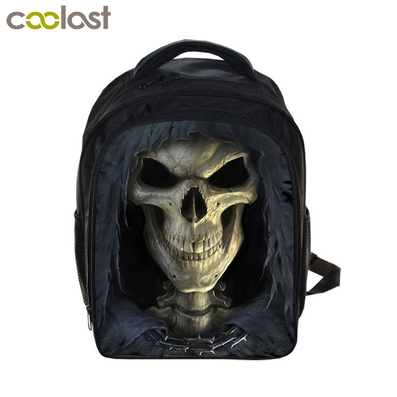 13 Inch Horror Nightmare Monster Backpack Death Skull School Backpack Boys Girls School Bags Kids Daily Backpack For Teens