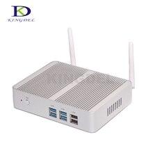 Kingdel Fanless Desktop Computer Mini PC with N3150 Dual Lan Dual HDMI Free WiFi Barebone 8GB RAM 256GB SSD 1TB HDD