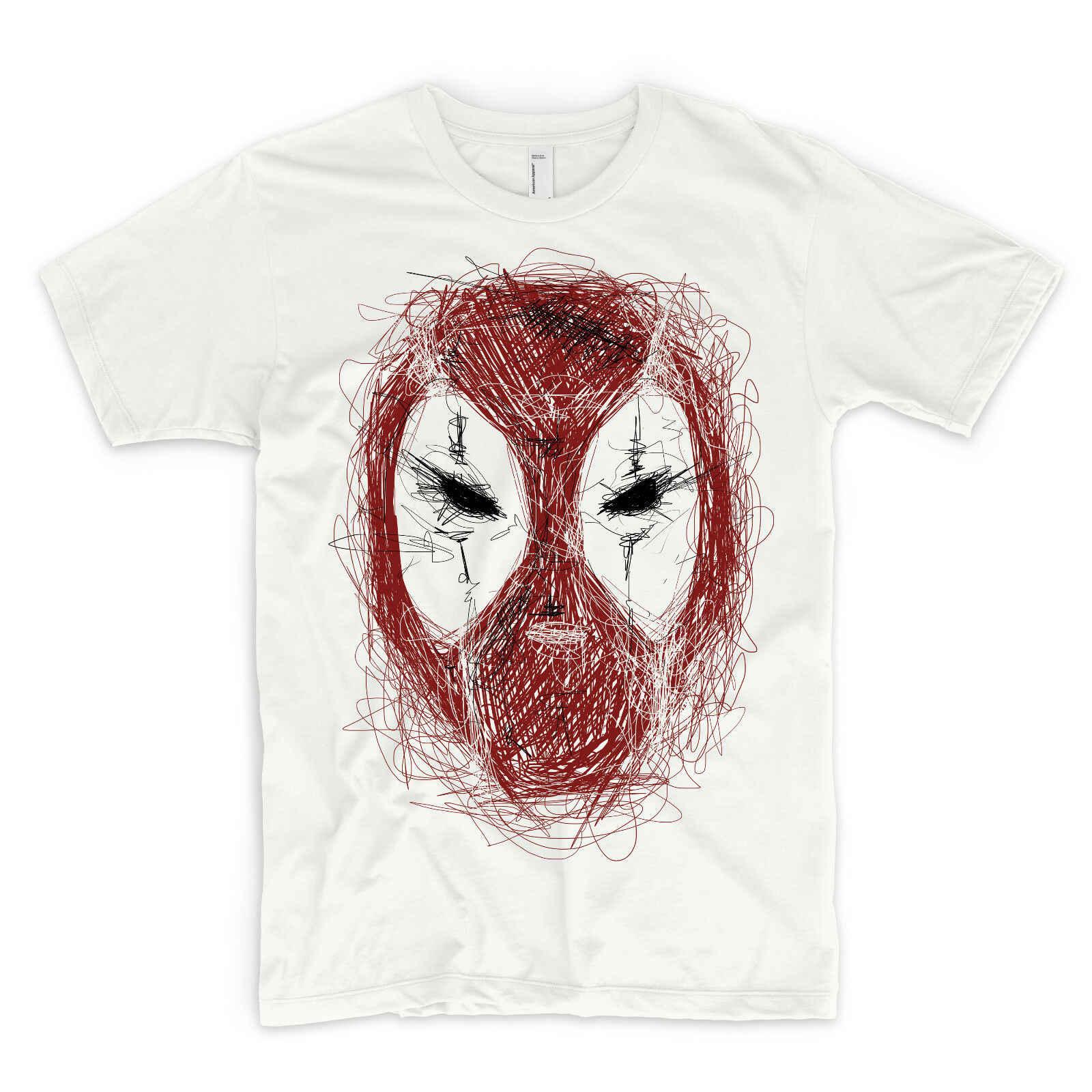 Футболка Дэдпул Gesicht Superheld Zeichnung Бэтмен Мстители DC Marvel Joker
