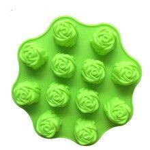 12 peony flowers Rose-shaped silicone moon cake mold Kitchen baking Aromatherapy soap