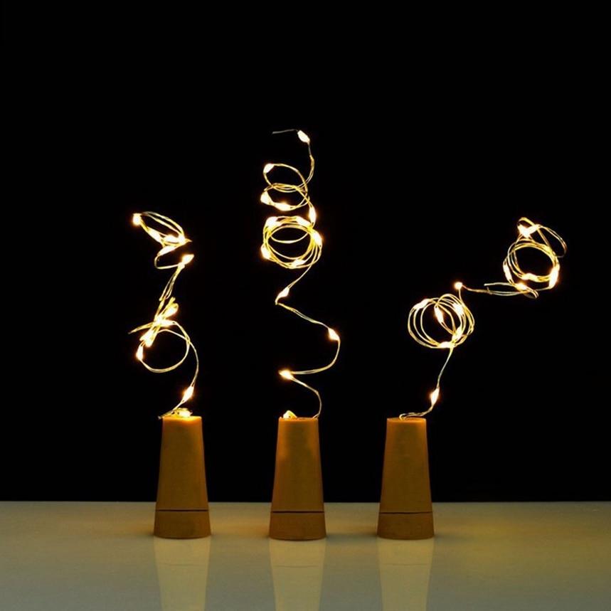 Новое поступление Солнечный бутылки вина Корк свет строка в форме 8 Светодиодов Фея Света Лампы рождественские украшения свет для партии де...