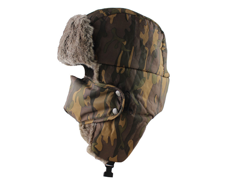 2b0f93081d3 CAMOLAND Winter Men Women Trapper Trooper Hat Bomber Hat With Ear ...