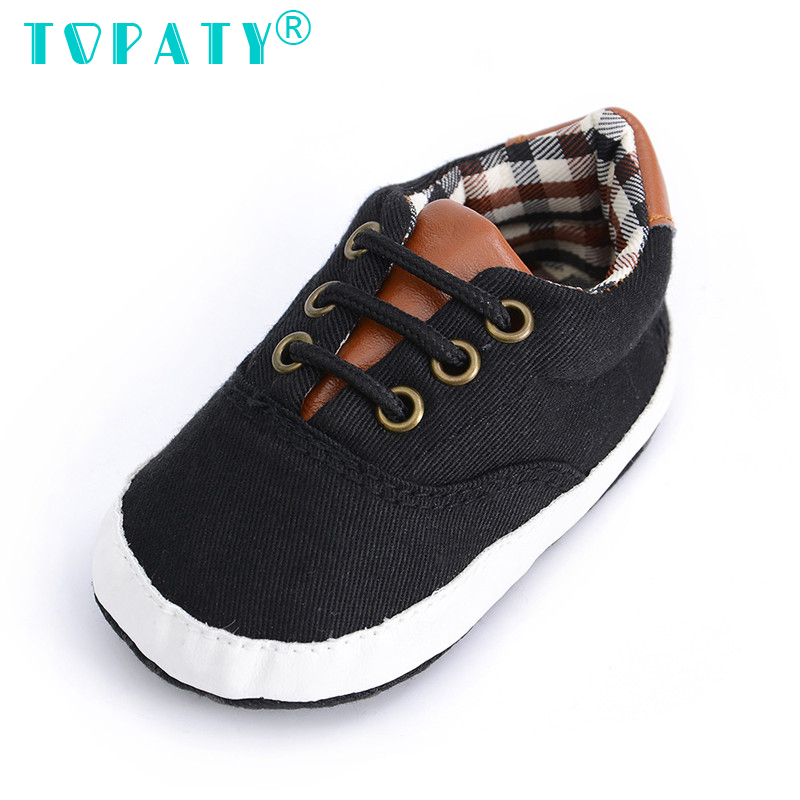 Brand New Baby Boys Soft Soled Toddler Shoes Newborn Lace-Up Plaid Canvas Sneakers Infant Non-slip First Walkers Sapatos De Bebe