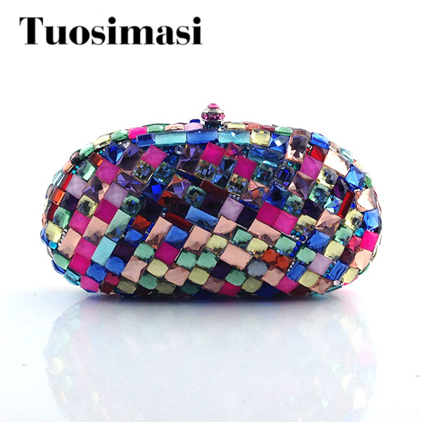 Unique Shinny Big Crystal Ladies Wedding Clutch Purse Hot Selling Rhinestones Evening Bag Handmade Party Bags Handbags black and white two color hot selling elegant ladies clutch bag fashion women handbags wedding handbags c696