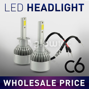 2x H7 LED H11 H1 H3 H8 HB1 HB3 HB4 HB5 H10 HIR2 H13 H16 H27 Car Headlight Bulbs 3000K 4300K 6000K 8000K COB C6 image