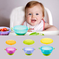 3 Pieces Baby Bowl Slip-resistant Tableware Set Infants feeding Bowl With Sucker and Temperature Sensing Spoon Suction Cup