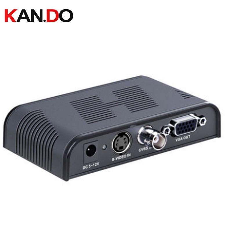 7505 Composite Video convertor BNC Composite & S Video to VGA BNC video convertor av switch av transformer AV adapter цена и фото