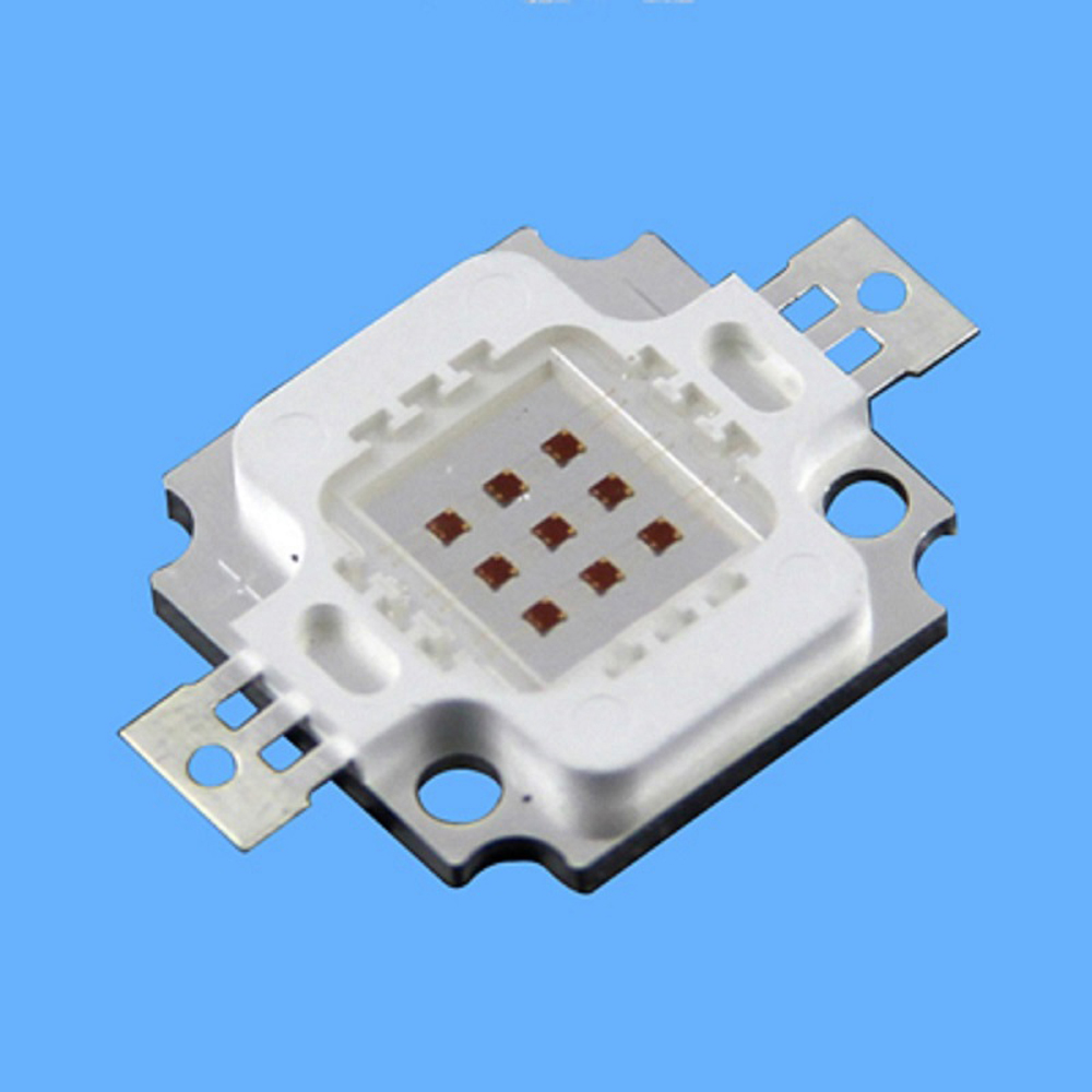 1pcs/lot 660nm red led 10w high power deep red 10w 660nm chip smd led bead chips for High Power LED