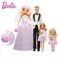 جديد الأصلي أحلام عرس مجموعة جمع نموذج دمى ولعب دمية باربي بنات جميلة هدايا عيد أطفال boneca brinquedos