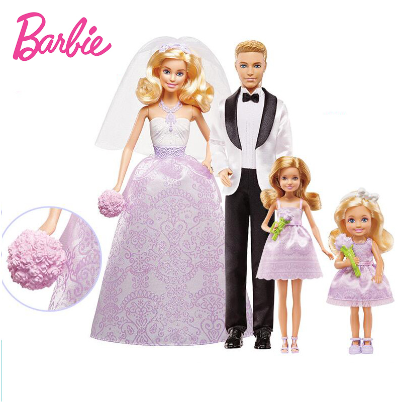 Фотография New Original Barbie Doll Dreams Wedding Set Collection Model Dolls Toys Girls Beautiful Birthday Gifts Babies Boneca Brinquedos