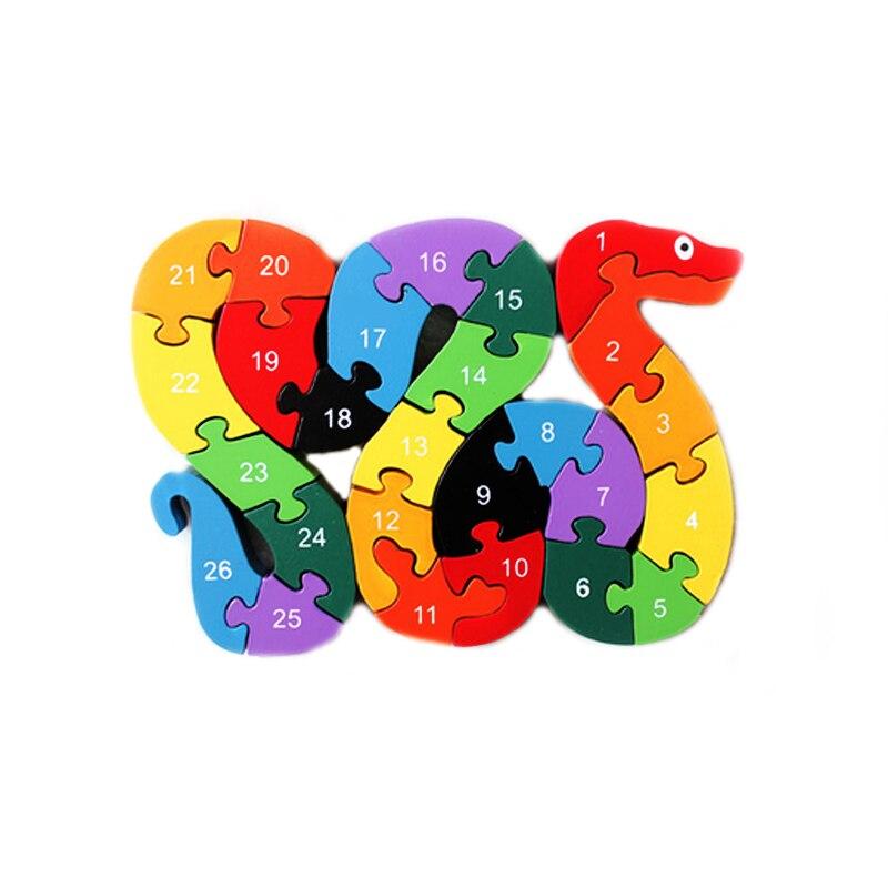 Holz Anzahl Zug Spielzeug Bunte Lustige Pädagogische Spielzeug für Baby Infant Baby Holzspielzeug