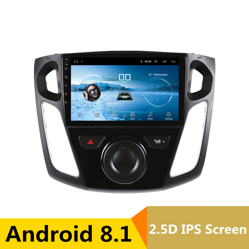 9 2.5D IPS Android 8.1 Car DVD Multimedia Player GPS For Ford Focus 2 3 2012 2013 2014 2015 audio car radio stereo navigation