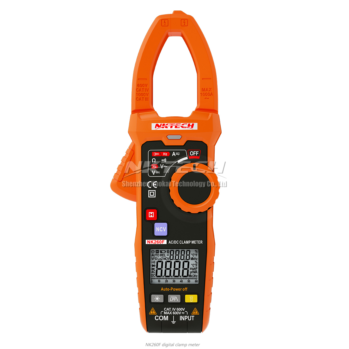 NKTECH NK260F VDF Smart Digital Clamp Meter LPF AC/DC V DCA Frequency Capacitance NCV Automatic Dual Display V/Ohm/A Auto Scan