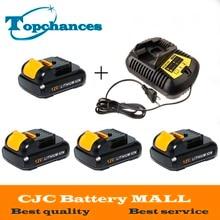 4PCS High Quality power tool Battery For Dewalt 12V 2.0Ah 2000mah MAX Li-ion DCB120 DCD710 DCF813 DCF815 DCF610+charger