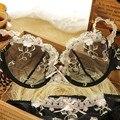 2016 Año Nuevo Mujeres de la Marca de Ropa Interior Conjuntos de Sujetador Sexy Plus tamaño Ultra-delgado Sujetador de Encaje Transparente Bragas Conjunto Lleno de Tentaciones conjunto