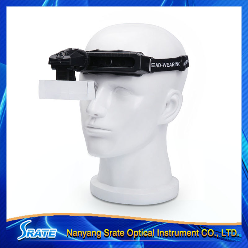 ФОТО Multipower ly Adjustable Headband Magnifying Glass Jeweler Loupe with LED Light  Watch Repairing Tool