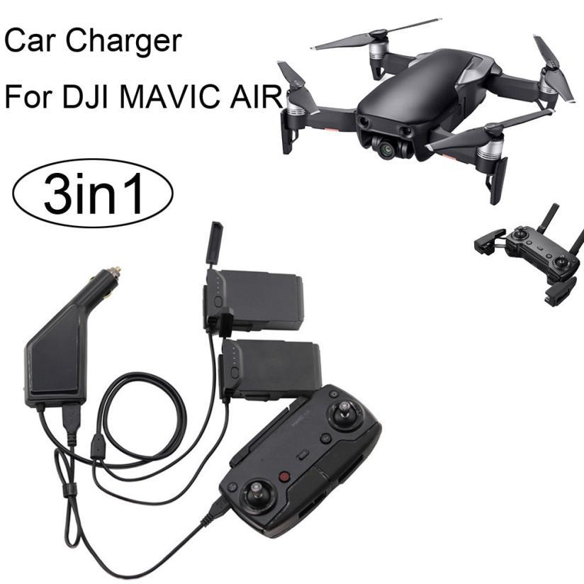 Alta calidad 3in1 cargador de coche adaptador para DJI Mavic aire Control remoto y batería carga Hub gota apr6
