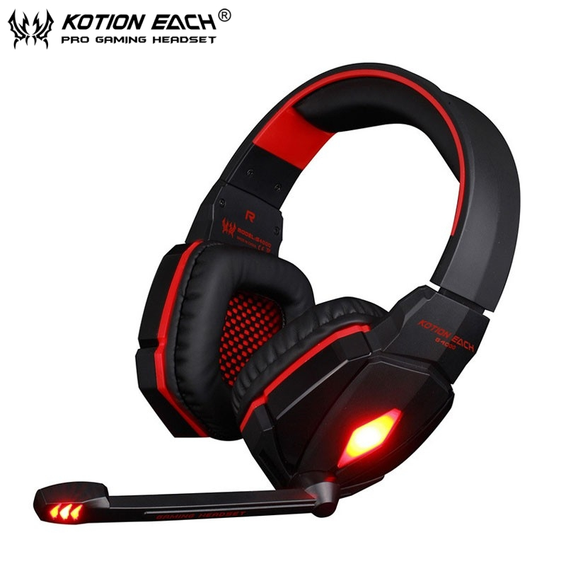 KOTION EACH G4000 Headset PC casque audio Leather Noise Cancelling Bass Stereo DJ Auriculares Gaming Headphone for PC gamer each g8200 gaming headphone 7 1 surround usb vibration game headset headband earphone with mic led light for fone pc gamer ps4