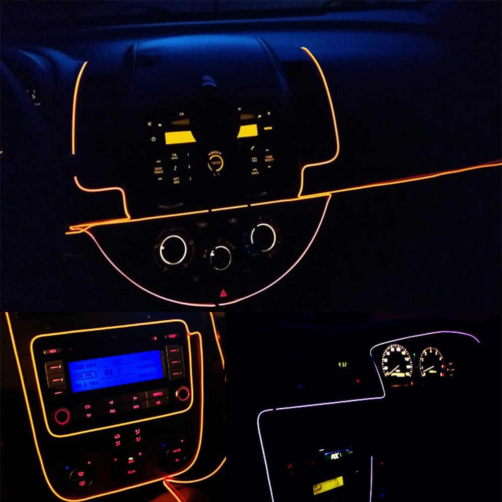 Đèn Neon EL Dây 6mm May Viền Đèn LED Xe Hơi Ô Tô Trang Trí Tiệc Nhẹ Xe Dây Đèn Neon Dải ĐÈN LED ánh Sáng linh hoạt 2.3MM Dây Ống