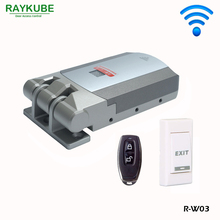 RAYKUBE Wireless Door Lock Electric Home Anti-theft Lock Security Lock For Home Office With Remote Control Opening R-W03