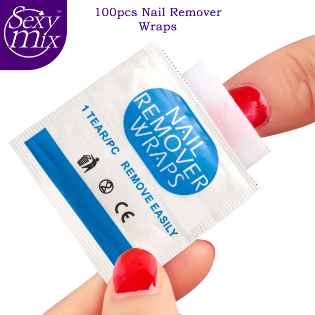 Easy Nail Cleaner 100Pcs/lot Nail Removal Wraps UV Gel Remover Nails ...