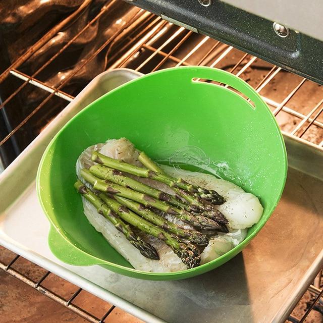 Four à micro-ondes vapeur pâte Silicone   De qualité alimentaire, four à vapeur Silicone pâte douce, cuisson poisson outil à vapeur 1 pièce