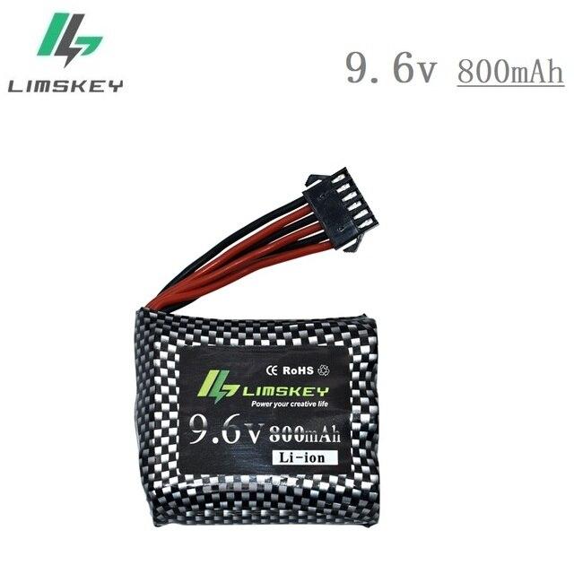 Original Limskey 6P-SM plug 9.6V 800mAh Li-ion battery for 9115 S912 9116 high speed RC Truck RC car battery 9.6 v free shipping
