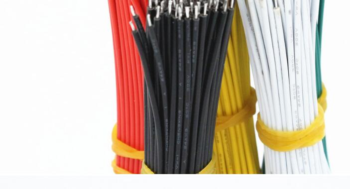 100pcs/lot 26AWG-10cm UL 1007 Double Head Tinned Cable Solder Cable Fly jumper wire cable Electronic Wire To DIY 6 Colors 1000pcs 10cm 26awg red black double end tinned pcb solder electronic wire jumper connector