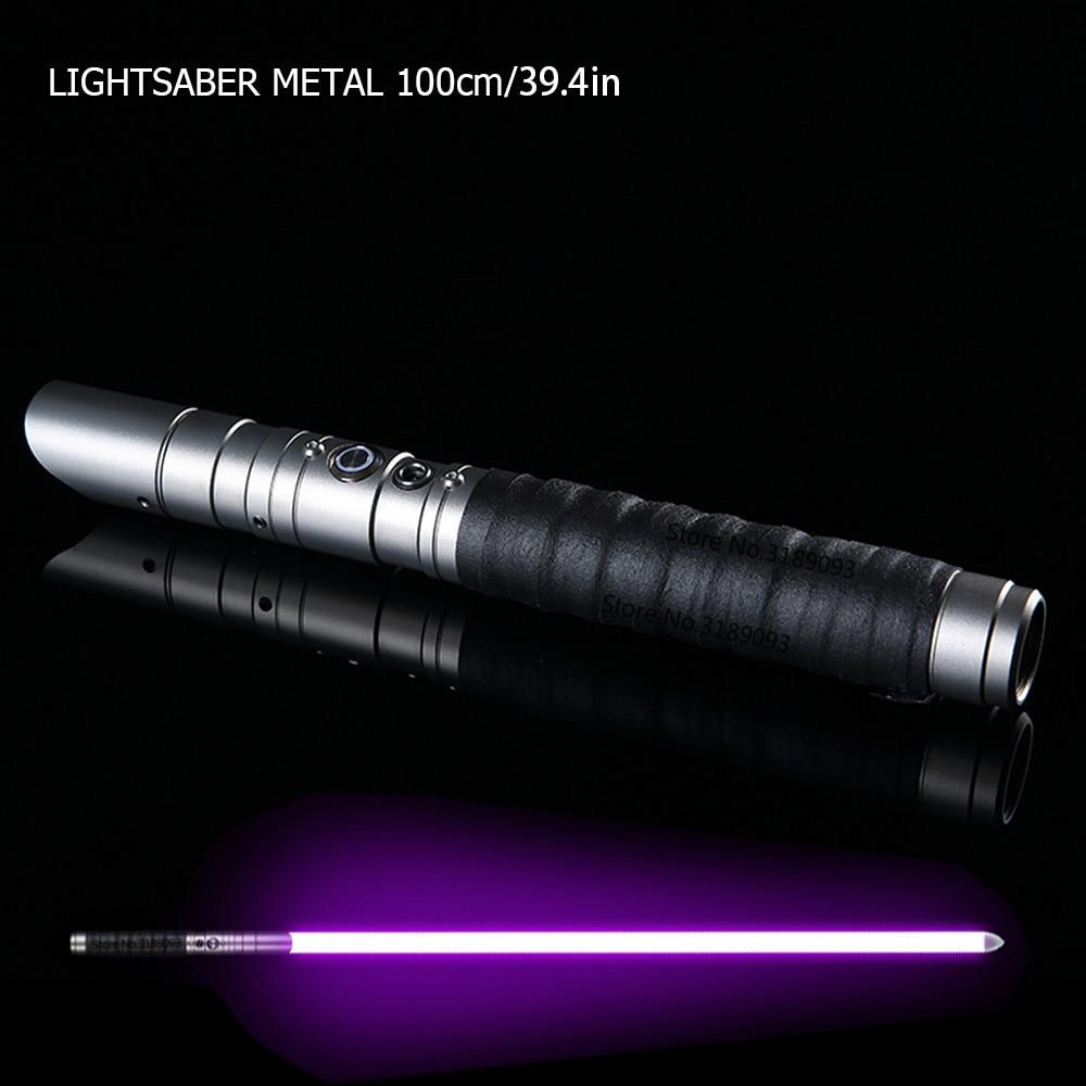2019 Cosplay Black Star Wars Lightsaber Metal Sword Toy Espadaes Laser Boy Toy Flashing Kids Gift