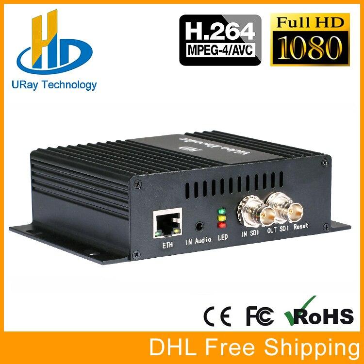 H.264 SD HD 3G SDI À IP Codeur HD-SDI 3G-SDI Vidéo Streaming Codeur IPTV Live Encoder Pour Youtube Facebook Wowza Via RTMP