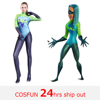 The Incredibles 2 Movies Voyd Cosplay Costumes Jumpsuits Voyd Female Halloween Costumes free shipping zentai suit for kid