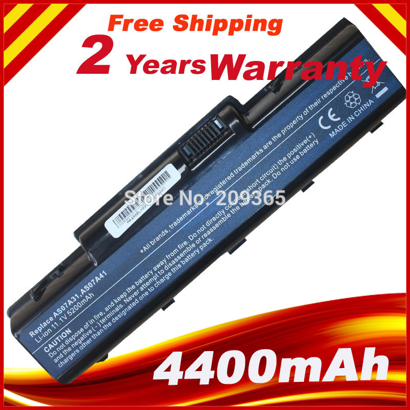 4400mAh laptop battery for <font><b>Acer</b></font> 4520G 4710 4715Z 4720G 4730 4730Z <font><b>4736</b></font> 5235 5334 2930 AS07A31 AS07A41 AS07A51 AS07A71 image