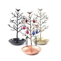 2016 Trendy Design Vögel Baum Schmuckständer Display Ohrring Halskette Ring Halter Organizer Rack Turm Zeigen Rack TB Verkauf