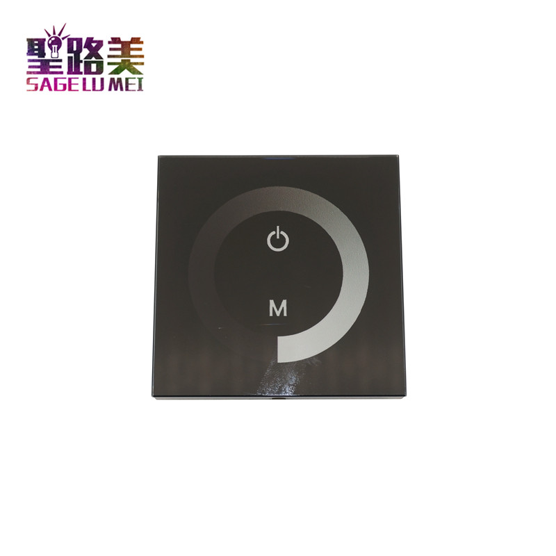 DC12V-24V Wall Type Touch brightness LED Panel Dimmer for 3528 5050 2835 Single Color LED Strip Tape LED Module Free shipping цены онлайн