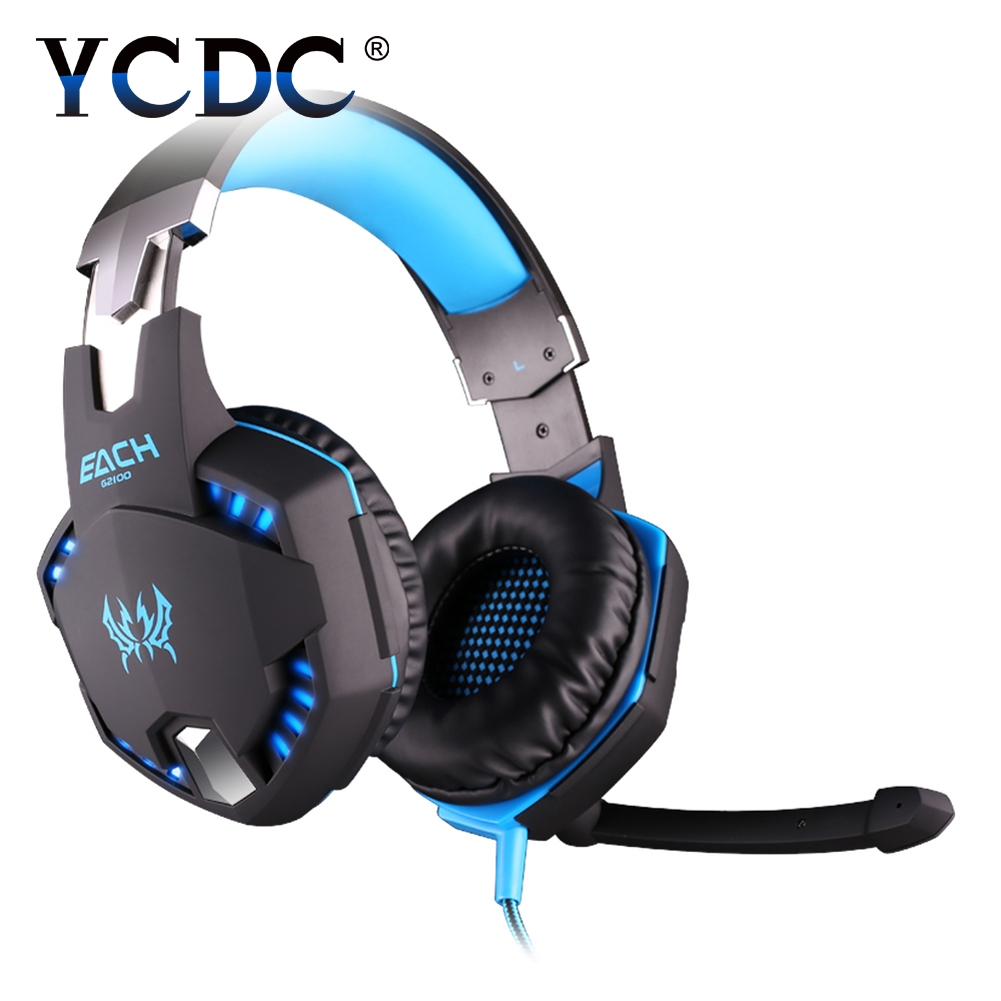 YCDC for PS4 Wired Headphones With Microphone Over Ear Headsets Bass HiFi Sound Music Stereo Earphone For iPhone Xiaomi PC merrisport bluetooth headphones with microphone over ear foldable portable music bass headsets for iphone htc cellphones laptop