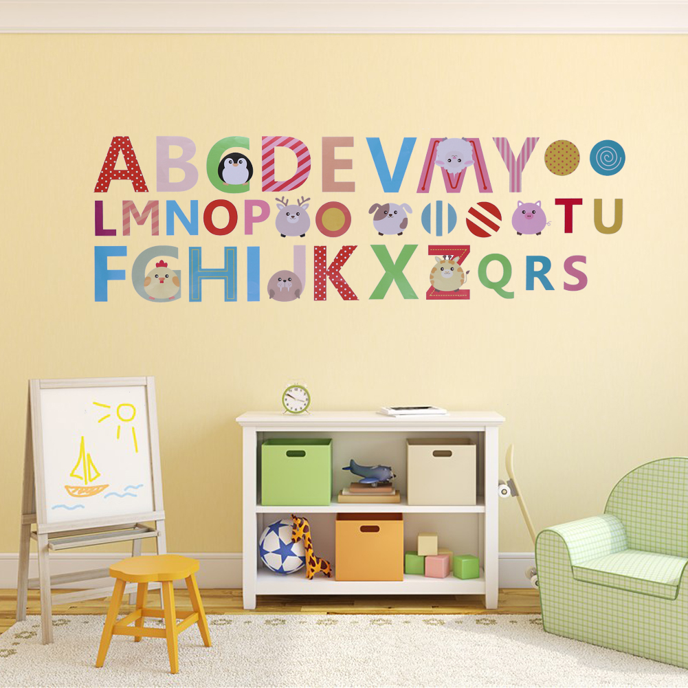 Amazing Alphabet Wall Decor Motif - The Wall Art Decorations ...