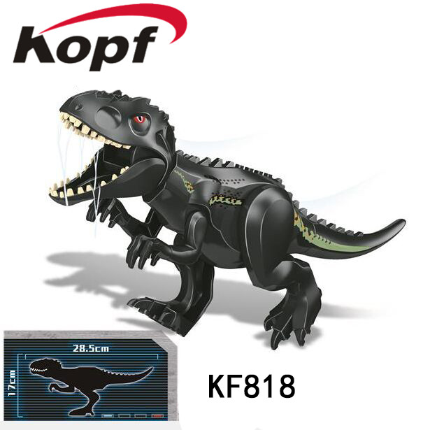 Single Sale Building Blocks Black Mixed Tyrannosaurus The Dinosaur Movie Action Figure Model Gift For Children Toys KF818 image
