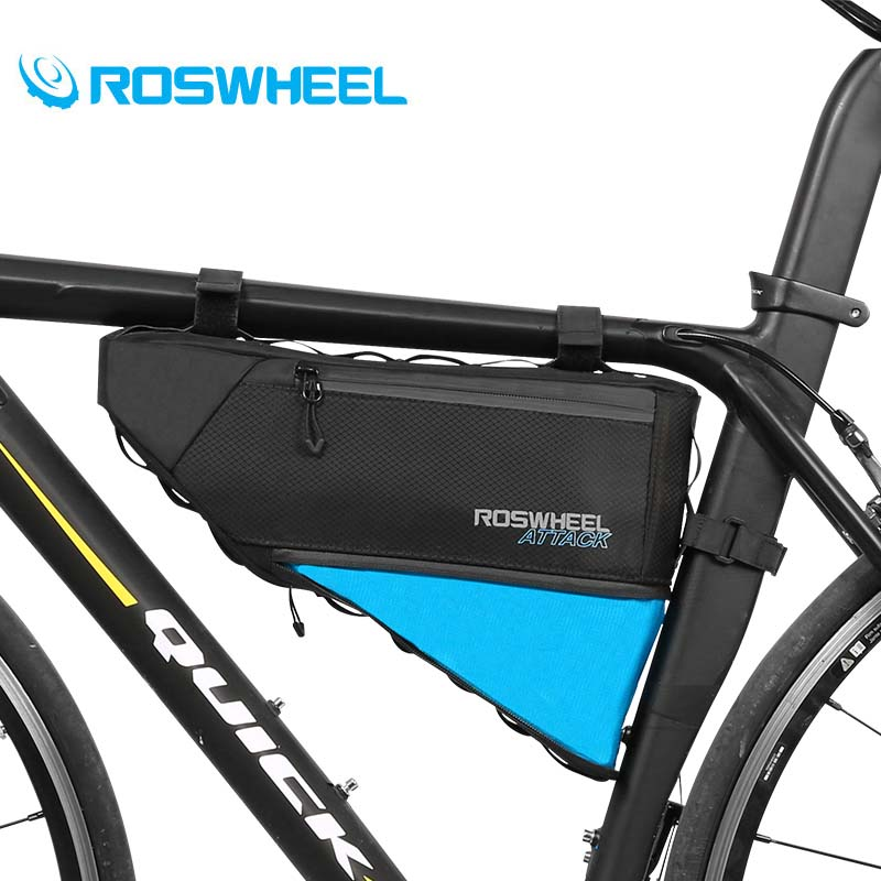 Roswheel Waterproof Bicycle Top Tube Triangle Storage Bag MTB Front Frame Package Road Mountain Bike Bag Panniers Cycling Bags r30cm horticultural soil sieve stainless steel round hole screen aperture 5 200mm blueberries bodhisattva beads sampling sieve