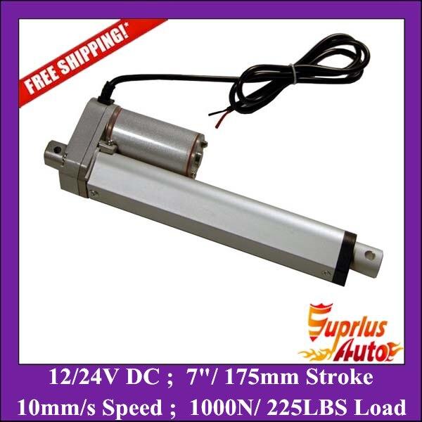 купить Free Shipping ! 7inch=175mm stroke,12V or 24VDC (it can choose) 1000N/ 225LBS electric linear actuator, customized stroke онлайн