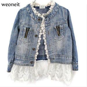 a32a3c8d5e93 Weoneit Baby Girls Kids Jacket Denim Jean Coat Long Sleeve