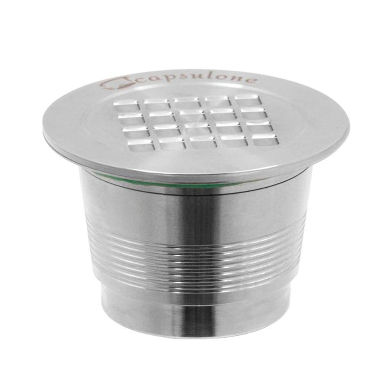 1pcs reusable stainless steel coffee capsule Strainer cup nespresso espresso coffee shell filter metal shell-hl1220